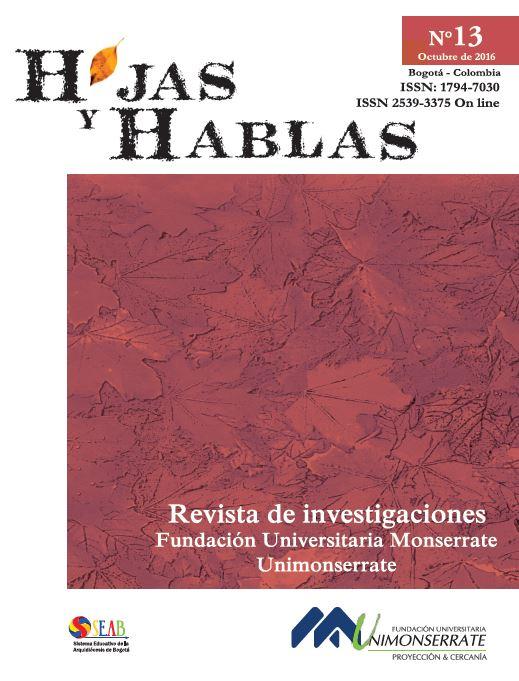 Revista Hojas y Hablas No.13. Año 2016